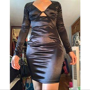 Sexy formfitting black dress